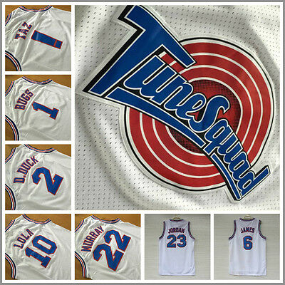 Space Jam Basketball Jersey Tune Squad LOONEY TOONES Jersey WHITE *FREE SHIPPING