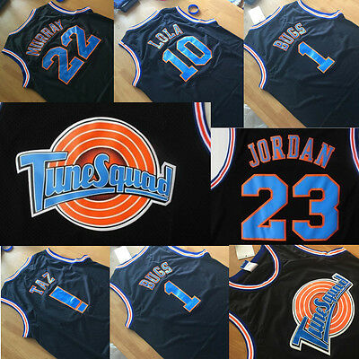 Space Jam Basketball Jersey Tune Squad LOONEY TOONES Jersey BLACK *FREE SHIPPING