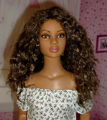 Monique Wavy Textured Doll Wig 7-8 Brown Black FITS KAYE WIGGS AND OTHER MSD
