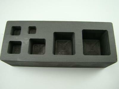 High Density Graphite Mold 1/4-1/2-1-2-5-10oz Gold Bar Tall Cube Copper Square