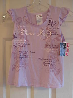 "NEW Lavender Capezio Dance Top, ""Dance Free"" Child size x-large - w/ tags"