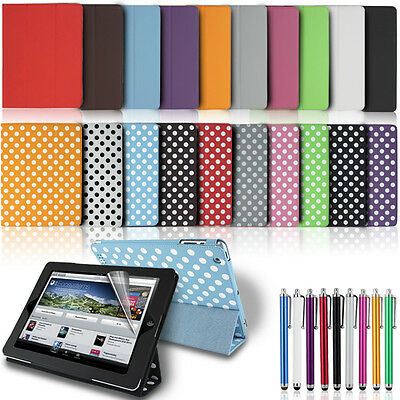 New Smart Magnetic Leather Case Flip Stand Cover for Apple iPad Models