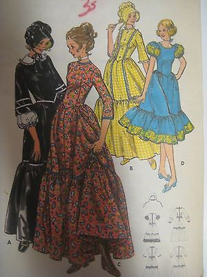 Vintage Erick 5939 Frontier Prairie Dress Costume Sewing Pattern Women Uncut