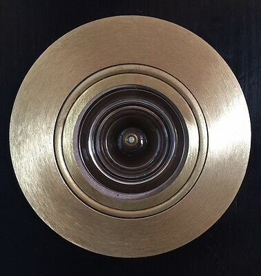 US-4 Satin Brass Peek-O Revolving Door Viewer. Made in USA. Brass Parts. Unique