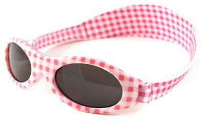 Baby Banz Adventure Banz Infant Sunglasses (Pink Check) - 2 Months - 2 Years
