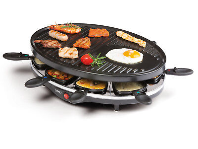 Raclette Partygrill, 8 Personen, 1200W, Tischgrill Raclette Grill Gerät