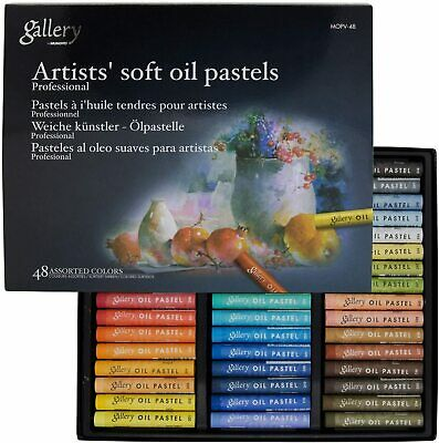 Soft Oil Pastel for Artist Mungyo Gallery Premium 48 Colors Drawing MOPV48