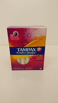 Tampax Purple Pearl Tampons Regular 3 Packs Of 18 Tampons