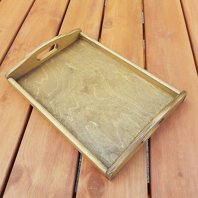 Plain Wood - Wooden Serving Tray 35cmx25cmx5.5cm in Brown Color