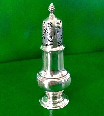 Samuel Wood 1760 Georgian Antique English Sterling Silver Sugar Caster Shaker