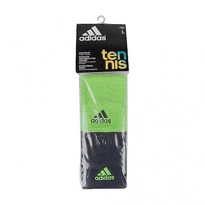 New ADIDAS Sweatbands WRISTBANDS  Double Wide/Large Tennis Running Athletic 1 pr