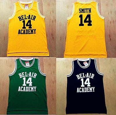 Will Smith Fresh Prince of Bel Air Jersey #14  Carlton Banks Academy #25 S - 3XL