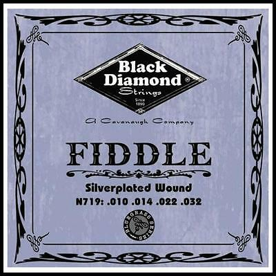 Black Diamond Silver-Plated Wound 4/4 Fiddle / Violin String Set - E,A,D,G