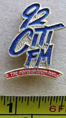 92 CITI FM, THE HOME OF ROCK 'N ROLL - Metal Lapel Pin