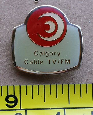 Calgary Cable TV/FM (Small Version) - Metal Lapel Pin