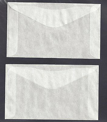 Acid Free Glassine Envelopes for stamps. 64mmx108mm. Pack of 100. Free Shipping