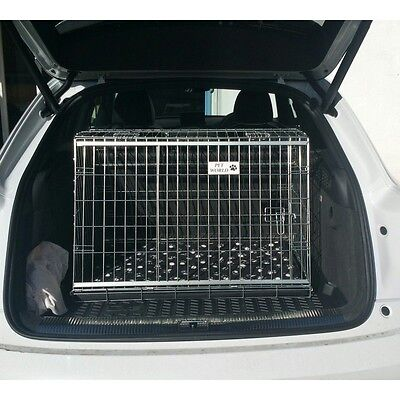 Audi Q3 Sloping Car Dog Cage Boot Travel Crate Puppy Guard
