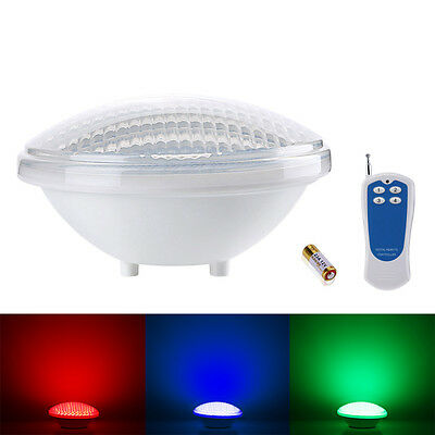 LE 18W Dimmable RGB Pool Light LED Underwater Lamp+Remote Controller Waterproof