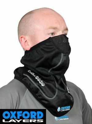 Oxford Motorcycle Chillout Neck Tube Motorbike Thermal Layers Necktube Black New