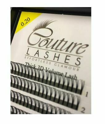 Couture W lashes 0.20 - Thick 3D Volume Lashes - Pre made Fans - Russian volume