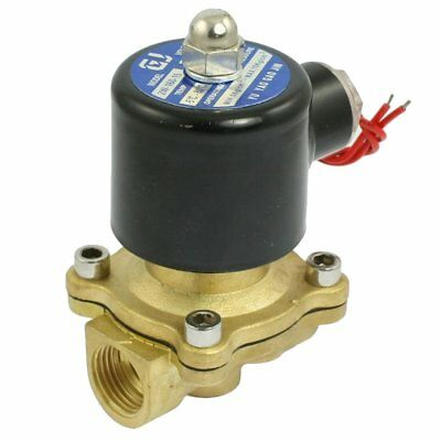 "110VAC 1/2"" Inch Electric Air Gas Water Solenoid Valve Normally Closed"