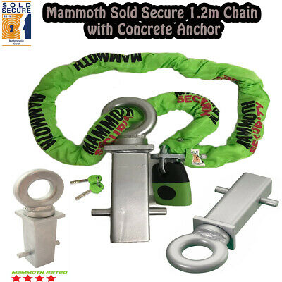 Mammoth Locm007 1.2M Chain Lock Motorcycle Concrete In Ground Anchor Grd003