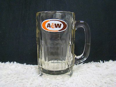 """A&W Root Beer Logoed Mug/Drinking Glass 5.75"""" High, Collectible Home/Barware*"""