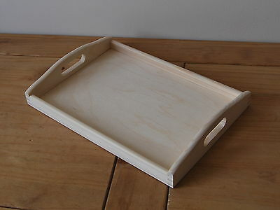 Plain Wood - Wooden Serving Tray 35cmx25cmx 5.5cm For Decoupage