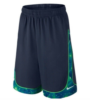 Nike Lebron James Helix Elite Shorts Dri-Fit Blue $40 642048-411 Boys S M L XL