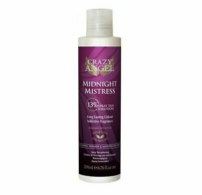 Crazy Angel Golden Mistress Dark 13% DHA Tanning Spray Airbrush 200ml