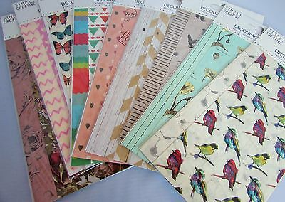 Decoupage Papers 2 Designs and 4 Sheets in Each Design 18.8x35cm