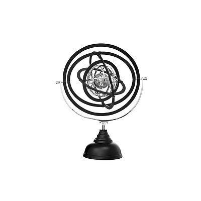 Stunning Decorative Stainless Steel Armillary Nickel Plated Black Finish Stand