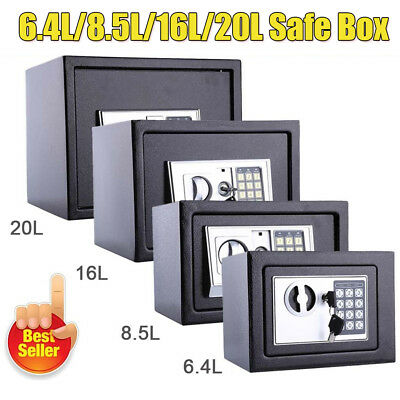 Large Digital Steel Safe Electronic Security Home Office Money Cash Safety Box