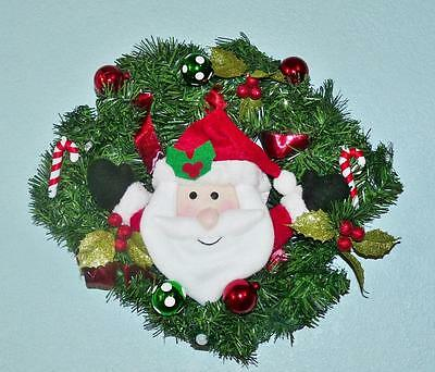 Avon Recordable Light Up Christmas Wreath Santa Music Holiday Decor Lights Nib