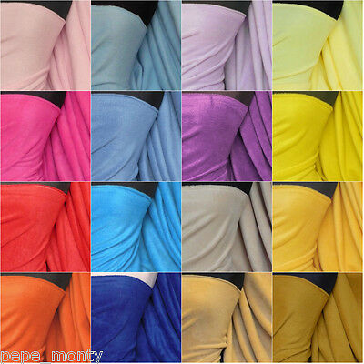 "Polar Fleece - Anti Pill Fabric 59"" Premium Quality Soft Plain various colors"