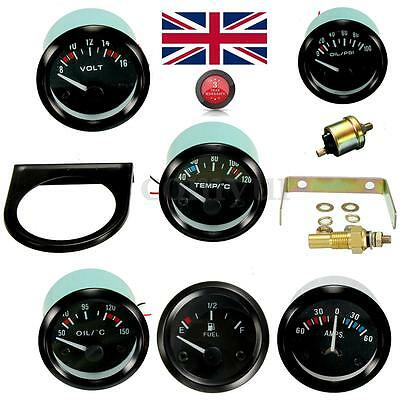 2'' 52MM CAR /WATER/OIL TEMP/PRESSURE/VOLT/AMMETER/FUEL LEVEL LED Pointer GAUGE