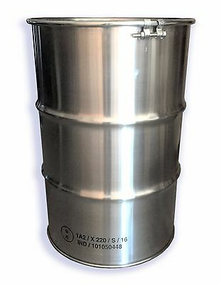 205L 304 STAINLESS STEEL DRUM - FOOD GRADE - OPEN HEAD with BOLT-ON Lid