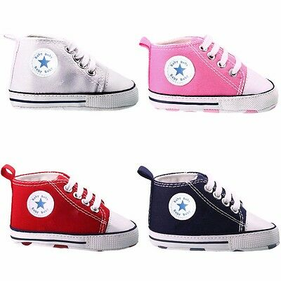 Summer Infant Toddler Baby Boy Girl Soft Sole Crib Shoes Classic Sneaker 0-13cm