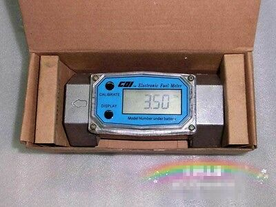 1.5 inch Turbine Digital Diesel Oval Gear Fuel Flow Meter BSPT/NPT L/Min Gallon6