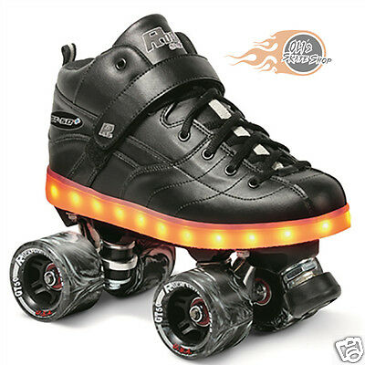 Sure-Grip GT-50 Plus LED Sole Light up Quad Roller Skates UK 6/US 7