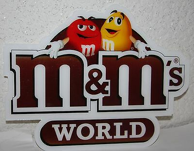 M&M/M&M's World Schild -Kunststoff /  Sign 30 x 23 cm