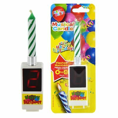 Digital Happy Birthday Musical Candle Counter with Displays ages from 0-9