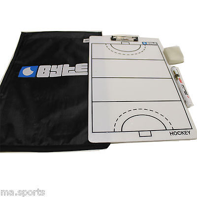 New Byte Hockey Training Coaching Clipboard With Bag Marker Pen Whiteboard