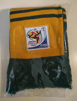 """South Africa 2010 World Cup Scarf - Australia """"Socceroos"""" - FIFA - Like New"""