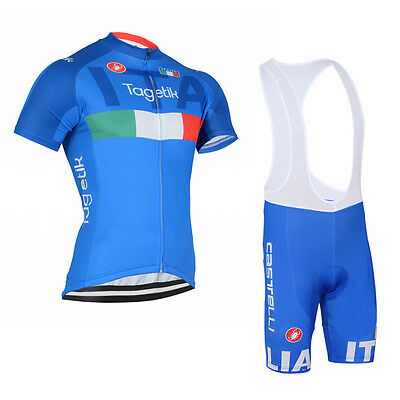 2016 Mens Cycling Outfit Jersey Brace Shorts Kits Bike Shirt Bib Pad Pants Suits
