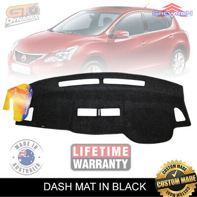 DASH MAT Nissan Tiida ST ST-L Ti Q C11 Sedan & Hatch Jan/2006-2014 DM1000 BLACK