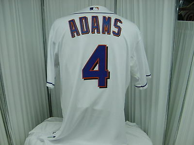 MLB New York Mets Team Issued 2011 Home Game Worn #4 Russ Adams Jersey