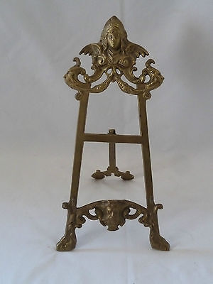 Vintage French Rococo Style Brass Table Top Picture/Book Easel Stand