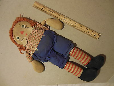 Antique Rare I Love You Raggedy Andy Doll Vintage Early Original To Restore Tag