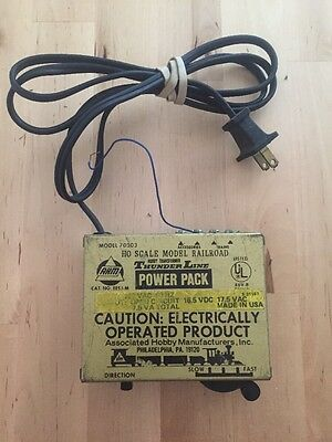 Vintage AHM Model 70203 Thunder Line Power Pack Transformer HO Scale Model Train